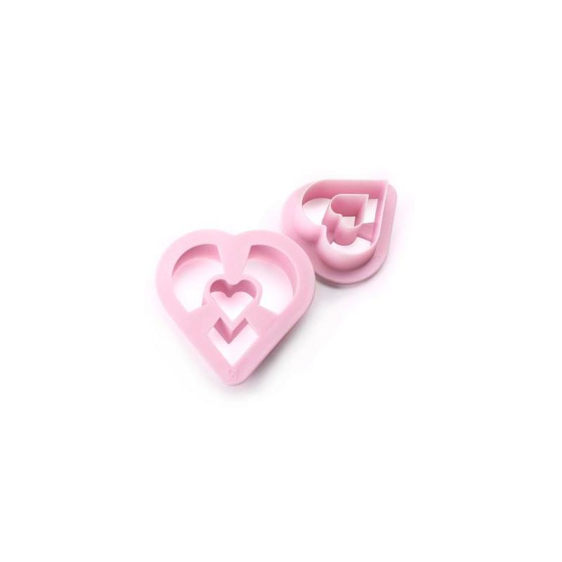 Pack 2 cortantes donuts corazón Ibili