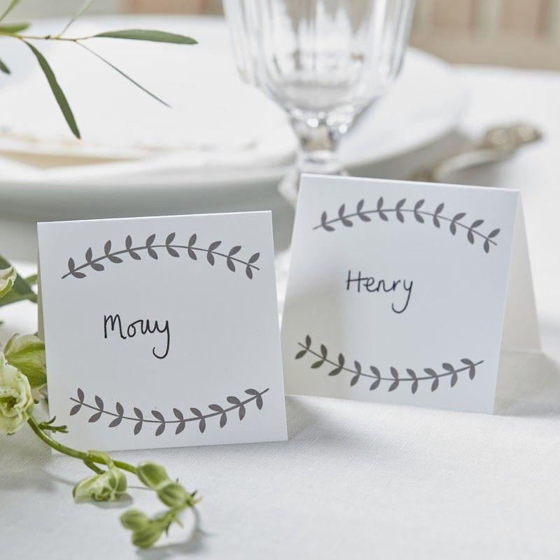 Pack de 10 Tarjetas para la mesa en kraft [CLONE]
