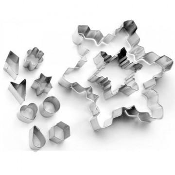 Pack 10 cortantes Copo de nieve Ibili