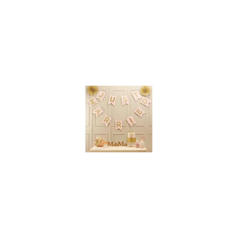 Guirnalda banderola Happy Birthday rosa y oro [CLONE]