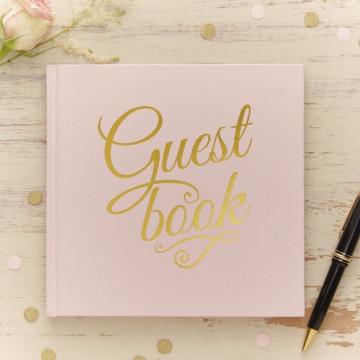 Libro de firmas Rosa y Oro