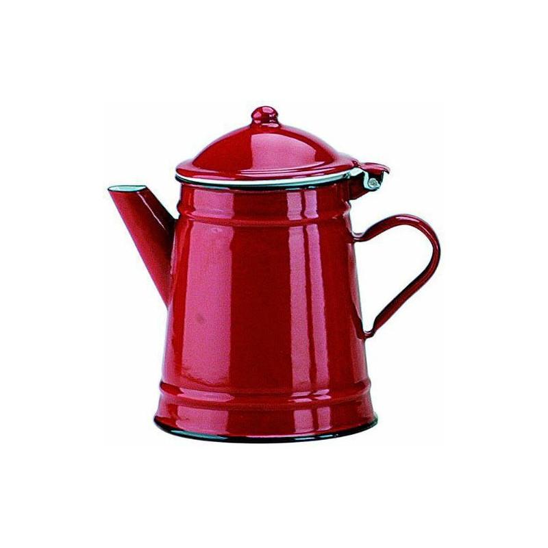 Cafetera cónica esmaltada Roja 0.5 l Ibili