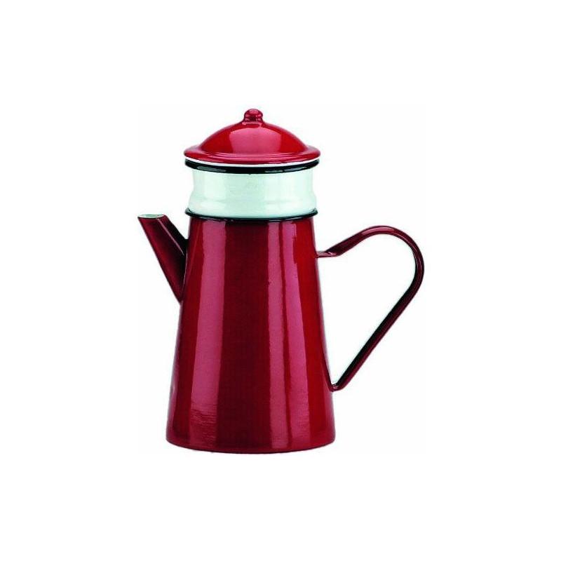 Cafetera con filtro esmaltada roja 0.5 l Ibili