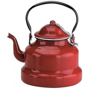 Cafetera pava esmaltada roja 1 l Ibili