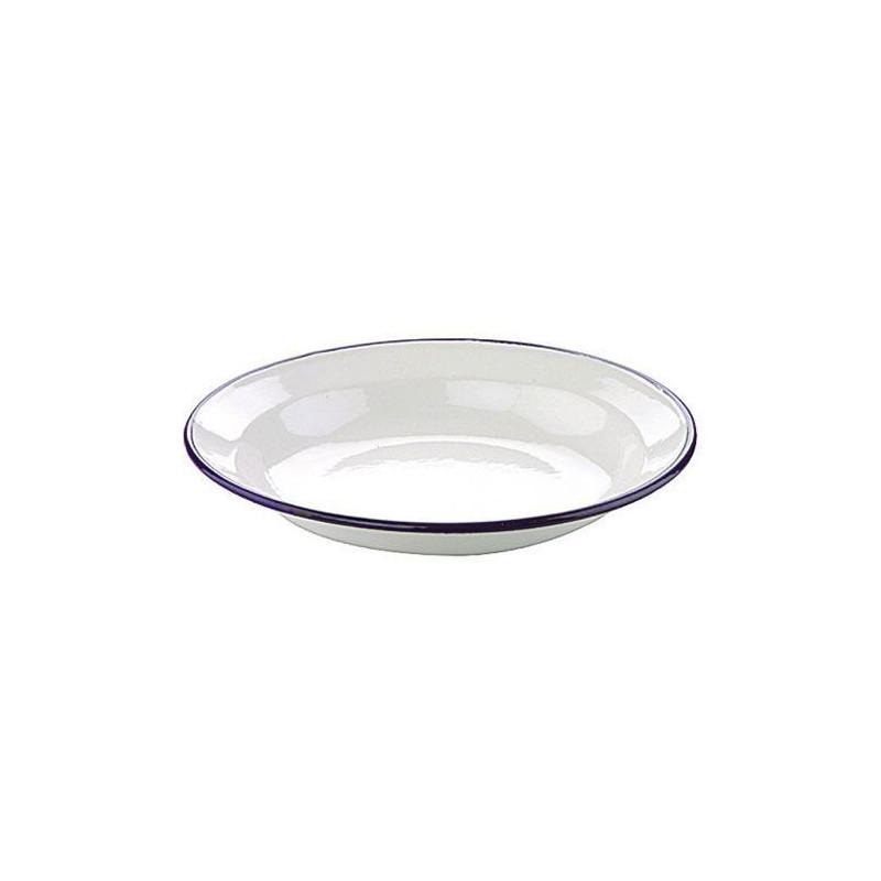 Plato esmaltado blanco 22 cm Ibili