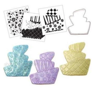 CK Cookie Cutter Texture Set tarta  inclinada de tres pisos