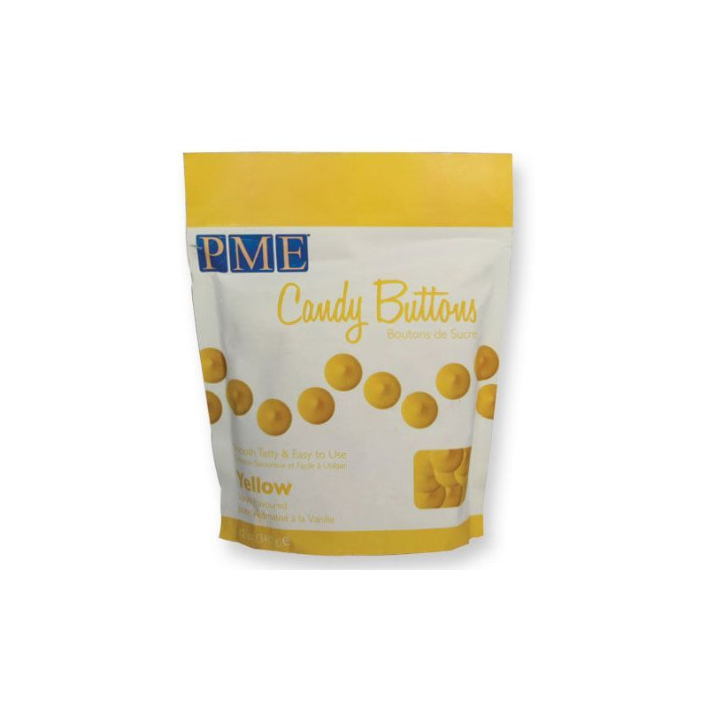 Candy bottons Amarillo 340gr PME