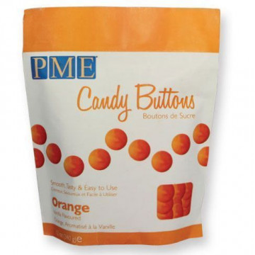 Candy buttons naranja 340gr PME