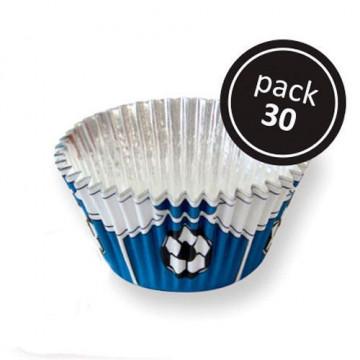 Cápsulas cupcakes antigrasa fútbol azul PME