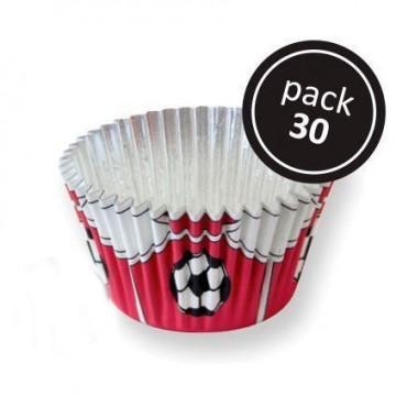 Cápsulas cupcakes antigrasa fútbol rojo PME