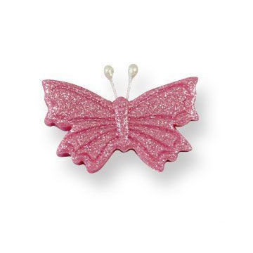 Decoraciones de azúcar mariposas rosa PME
