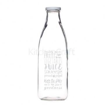 Botella de cristal tipo lechera letras Kitchen Craft