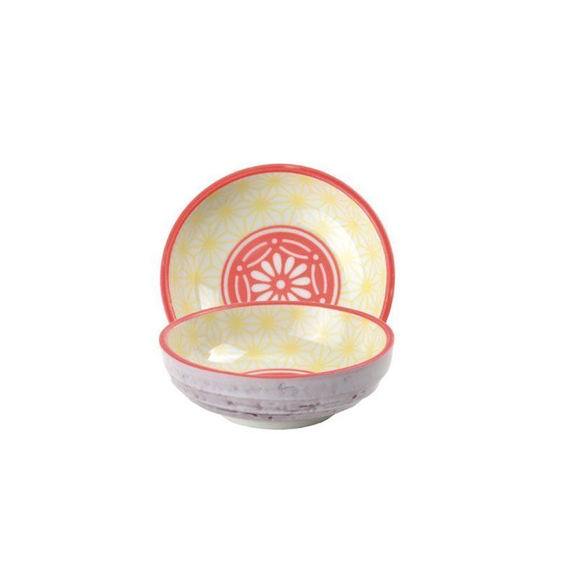 Bol de cerámica mini coral y amarillo Star Wave