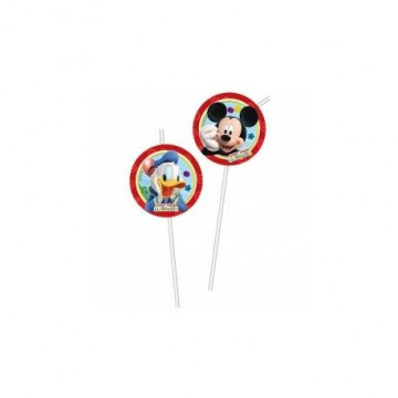 Pack 6 pajitas Mickey Mouse