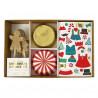 Kit para cupcakes: Gingerbread con pegatinas Meri Meri
