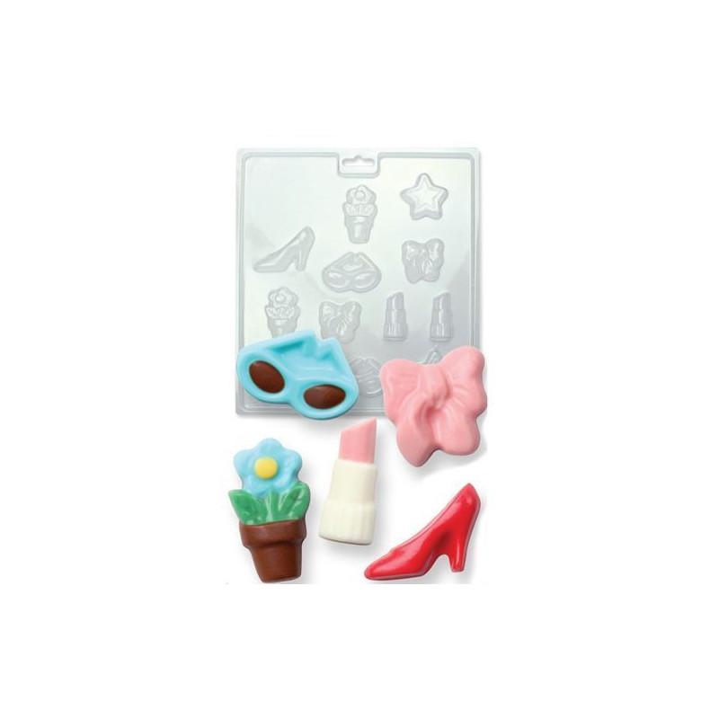 Molde de bombones complementos de mujer PME