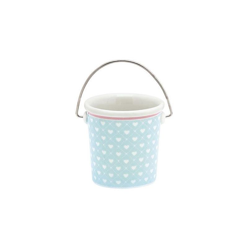 Pack 2 mini cubos de cerámica Abelone White Green Gate