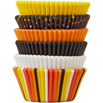 Pack 150 cápsulas de cupcakes tonos otoñales Wilton