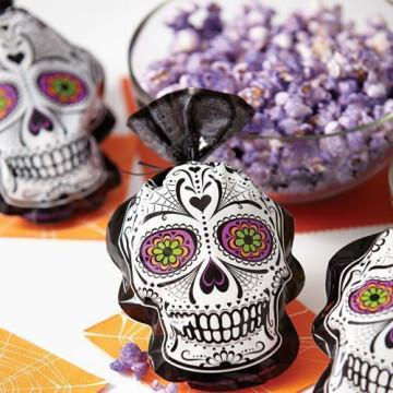 Pack de 15 bolsas Calavera mexicana Halloween Wilton