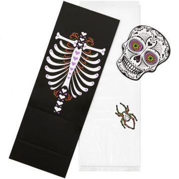 Pack de 6 bolsas Esqueleto Halloween Wilton