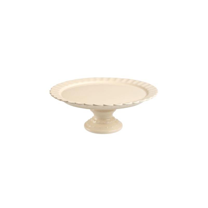 Cake Stand de cerámica Crema Con Blondas