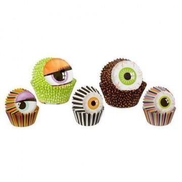Pack de 125 cápsulas cupcakes y mini cupcakes Ojos Halloween Wilton