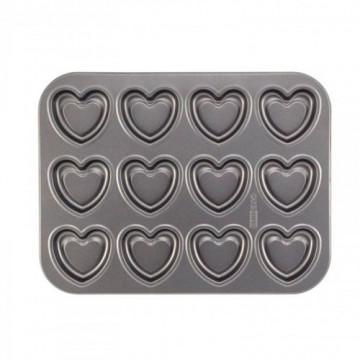 Molde 12 cavidades Corazón CakeBoss