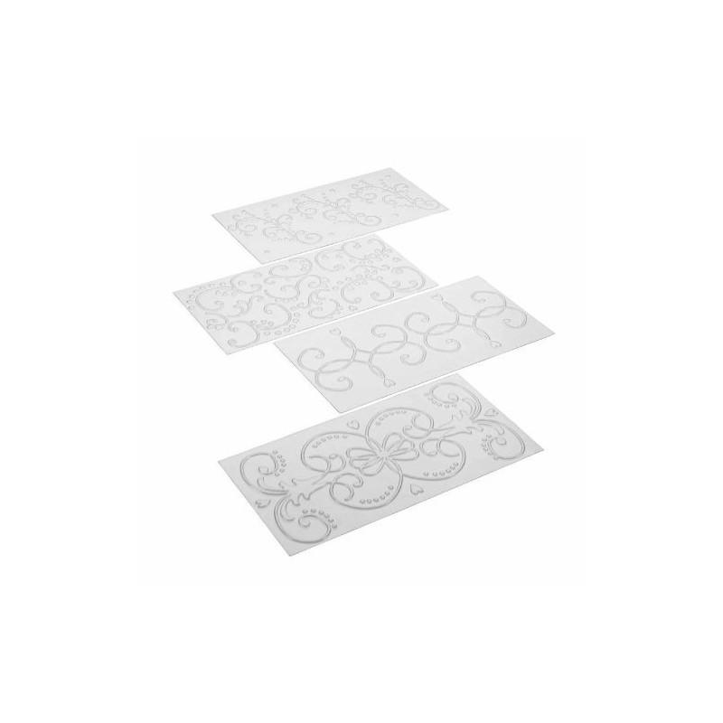 Plantillas texturizadoras pack 4 Cakeboss