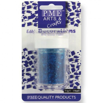 Escamas de purpurina azul PME