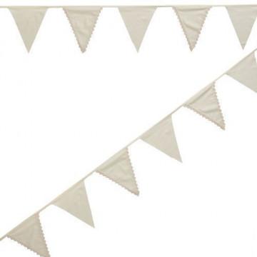 Banderola de tela Beig Vintage