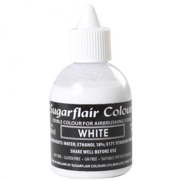 Colorante para aerógrafo Blanco 60ml Sugarflair