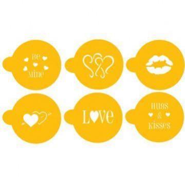 Stencils Valentin Cupcakes / Cookies