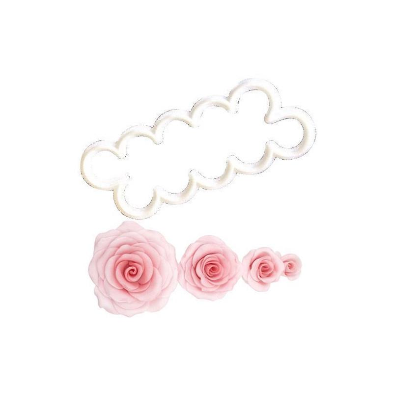 Cortante rosa súper fácil FMM