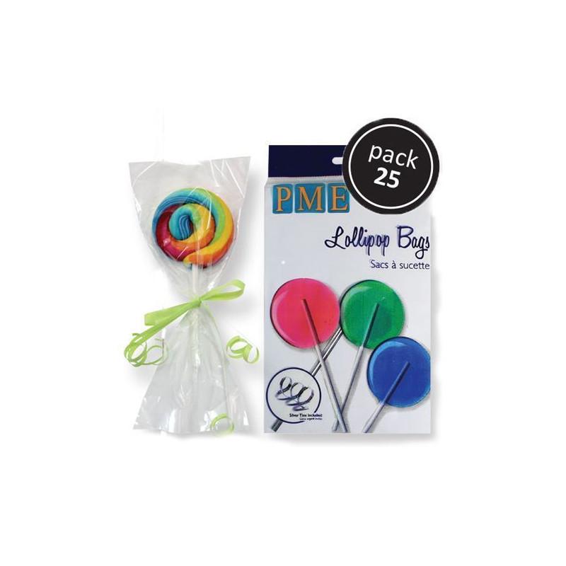Bolsas para galletas pack 25 + lazo PME