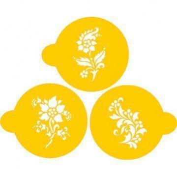 Stencils Flores Cupcakes / Cookies