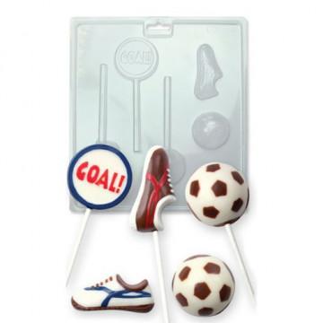 Molde para piruletas fútbol PME