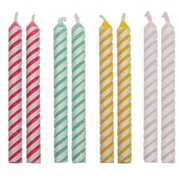 Velas rayas colores PME