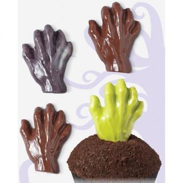 Molde chocolate mano terrorífica halloween wilton