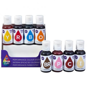 Pack 8 colorantes color right Wilton