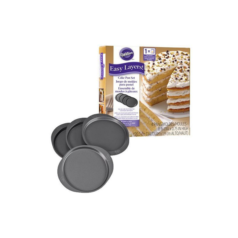 Pack 5 moldes redondos Layer Cake Wilton [CLONE]