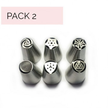 Pack de 6 boquillas rusas para flores medianas PACK 2