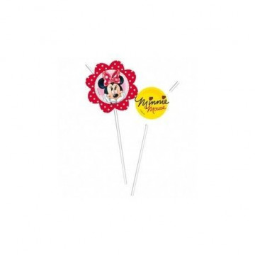 Pack de 6 pajitas Minnie Mouse