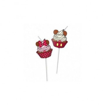 Pack de 6 pajitas Minnie Mouse Cupcake