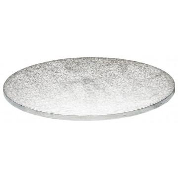 Bandeja presentación redonda plata 30 cm