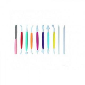 Estecas pack 10 herramientas de modelado