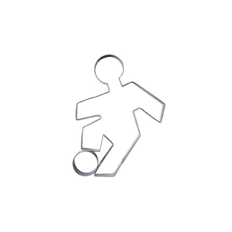 Cortante galletas jugador fútbol