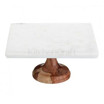 Cake Stand de mármol y madera