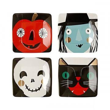 Platos de fiesta cuadrados Halloween Meri Meri
