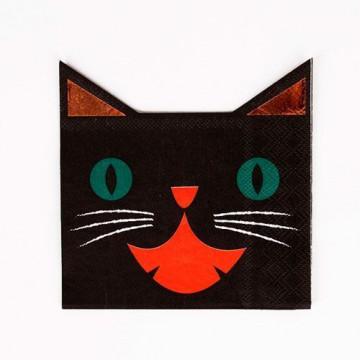 Servilleta de papel Gato Halloween Meri Meri
