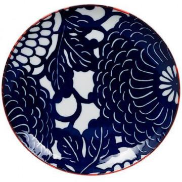 Plato de cerámica Olas Blanco y Azul Nippon Blue [CLONE] [CLONE] [CLONE]